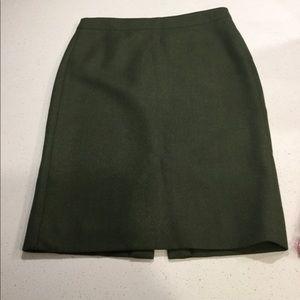 J Crew Green Skirt